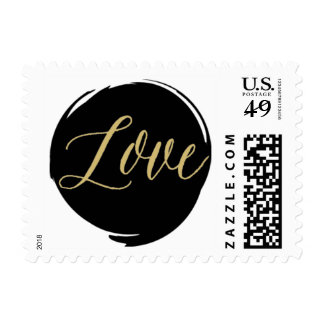 Modern Brush Strokes Postage Stamp
