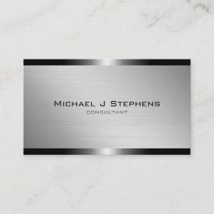 Brushed aluminum business cards zazzle modern brushed aluminum business card colourmoves