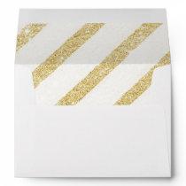 Modern brushtrokes faux gold glitter stripes envelope