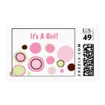Modern Bubble Gum Dots Postage Stamp