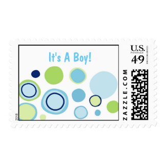 Modern Bubble Gum Dots Postage Stamps