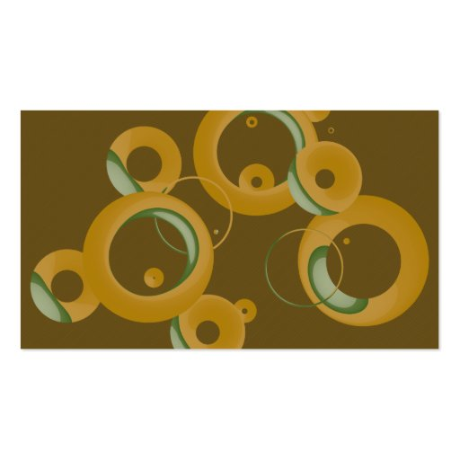 Modern Bubbles Business Cards - Olive