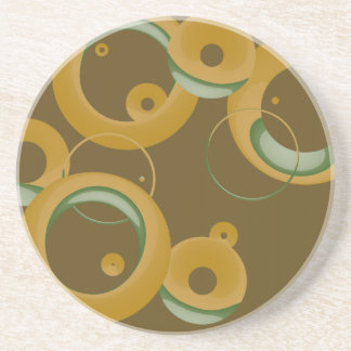 Modern Bubbles Coaster - Olive