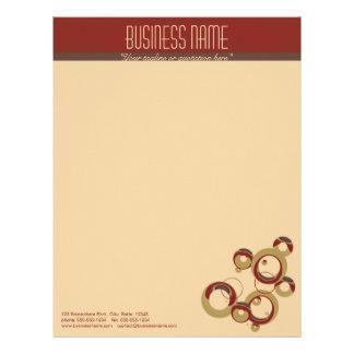 Modern Bubbles Letterhead - Beige
