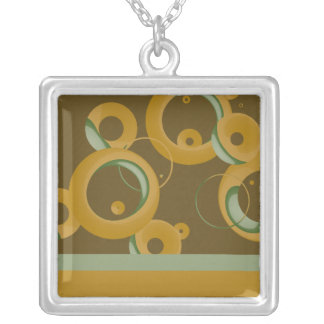 Modern Bubbles Necklace - Olive