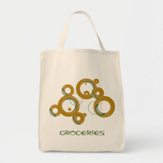 Modern Bubbles Organic Grocery Tote - Olive
