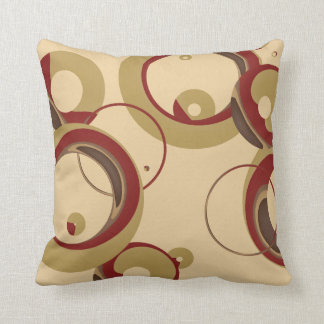 Modern Bubbles Throw Pillow - Beige