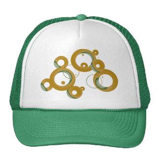 Modern Bubbles Trucker Hat - Olive