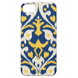 Modern buff yellow blue ikat tribal pattern iPhone SE/5/5s case