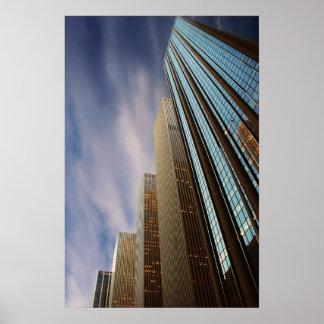 Modern building poster New York