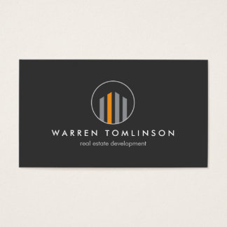 Modern Buildings Logo 3 for Real Estate, Realtors Business Card
