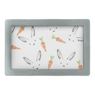 Modern Bunny and Carrots Belt Buckle