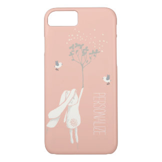 Modern Bunny On The Breeze iPhone 7 Case