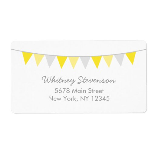Modern Bunting Shipping Labels