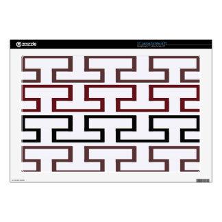 Modern Burgundy Black and Brown Bricks Decals For Laptops