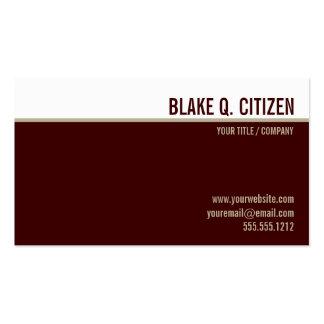 Modern burgundy gold business card