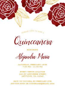 Burgundy Quinceanera Invitations Zazzle