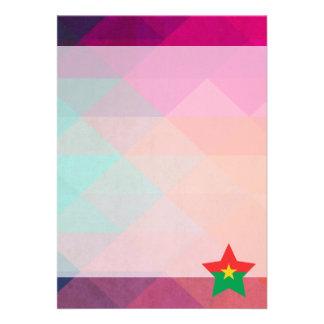 Modern Burkina Faso Flag Card