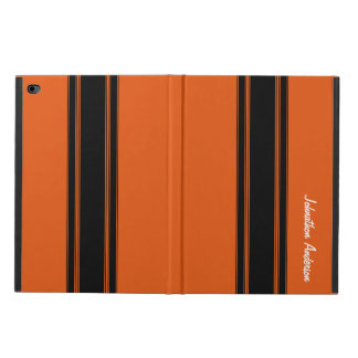 Modern Burnt Orange Racing Stripes With Name Powis iPad Air 2 Case