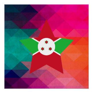 Modern Burundi Flag Poster