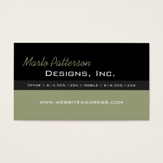 Modern Business Card :: Black & Dried Herb