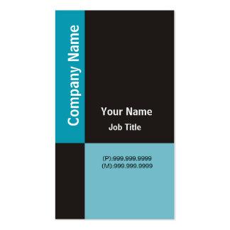 Modern Business Card ~ Blue & Black Checks