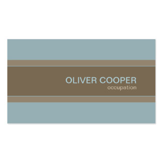 Modern business card Earth colors Blue and Brown