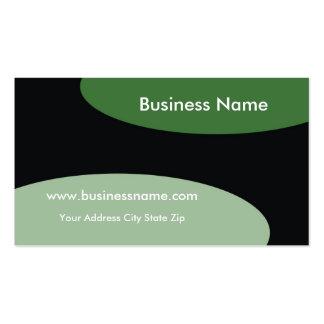 Modern Business Card ~ Green On Black