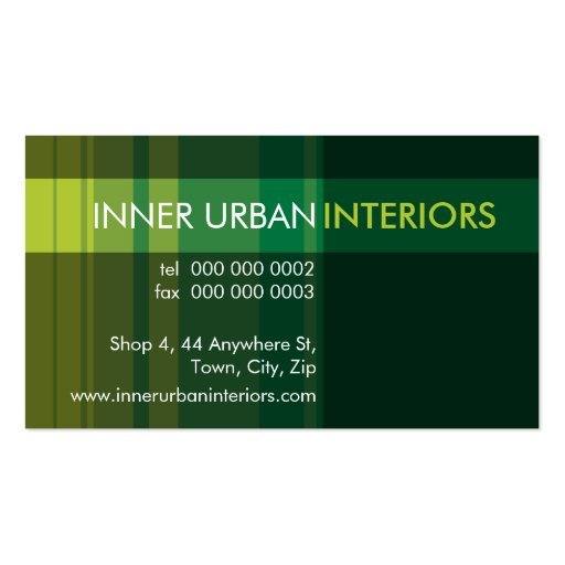 MODERN BUSINESS CARD :: modish stripe 1L
