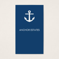 Modern Business Card | Nautical Anchor at Zazzle