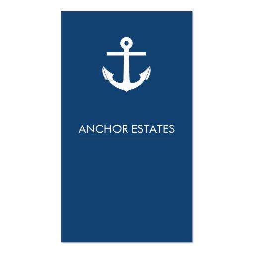 Modern Business Card   Nautical Anchor