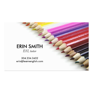 Modern Business Card No. 66 | Pencil Crayons