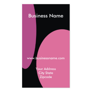 Modern Business Card - Pink Black