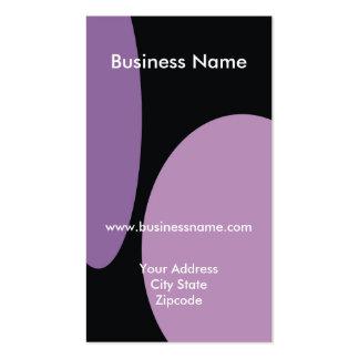 Modern Business Card - Purple Black