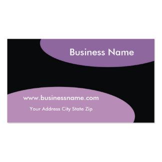 Modern Business Card ~ Purple On Black