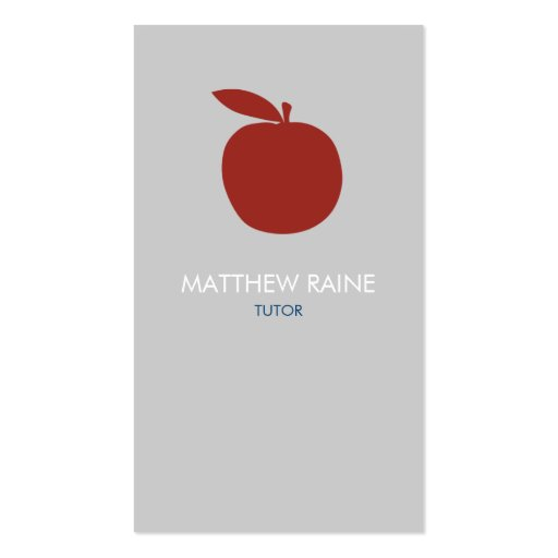 Modern Business Card | Tutor, Teacher, Organic.