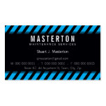 MODERN BUSINESS CARD :: warning stripes 1