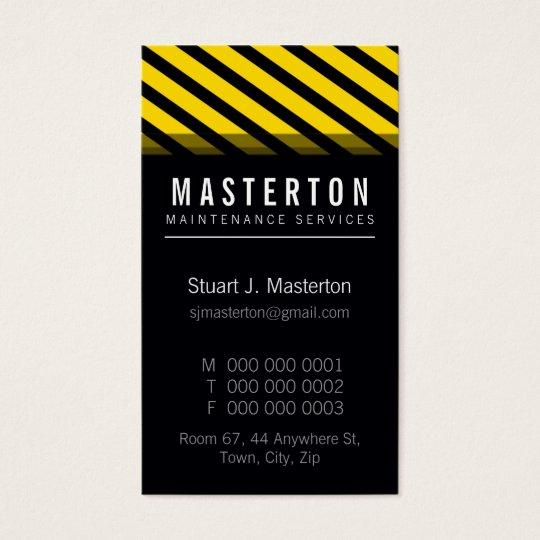 MODERN BUSINESS CARD :: warning stripes 2P