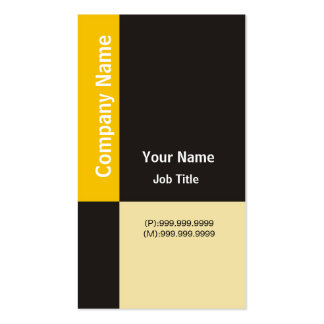 Modern Business Card ~ Yellow & Black Checks