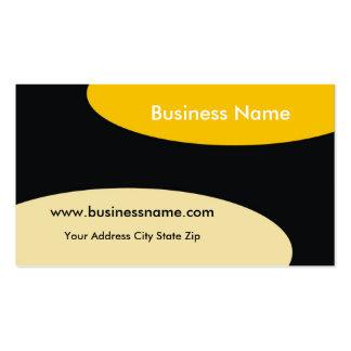 Modern Business Card ~ Yellow On Black