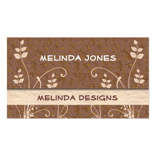 Modern Business Cards::Brown And Cream