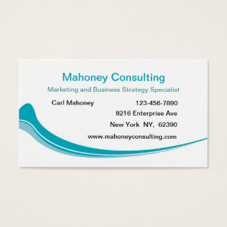 Modern Business Marketing Consulting Business Card