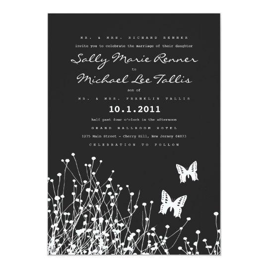 Modern Butterflies Invitation Card