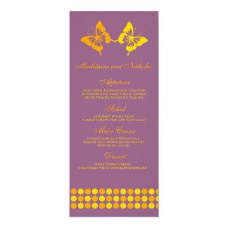 Modern butterfly dots wedding set card