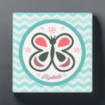 "Modern Butterfly Personalized Chevron Kids Design Plaque<br><div class=""desc"">This elegant butterfly design will make kids &amp; adults light up with joy! It&#39;s simple yet whimsical design is perfect for any age... .even adults can get down on this one!</div>"