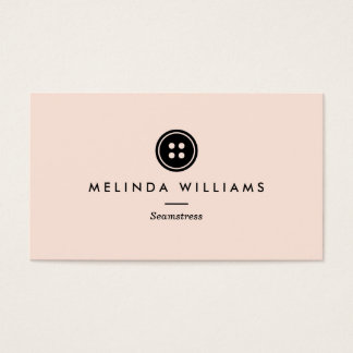 Modern Button Logo Seamstress, Sewing, Tailor III Business Card