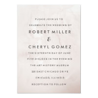 Modern Cafe Watercolor Wedding Invitation
