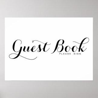 Modern Calligraphy | Guest Book Wedding Sign Poste