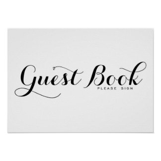 Modern Calligraphy | Guest Book Wedding Sign Poste Poster