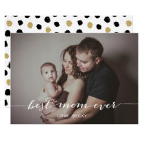Modern Calligraphy Mother's Day Photo Card